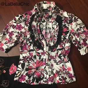 Bright Floral Blouse by Bebe